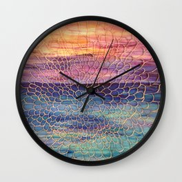 Looking through Lace Wall Clock