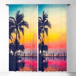 Miami sunset Blackout Curtain