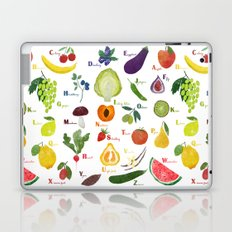 English fruit and vegetables alphabet Laptop & iPad Skin