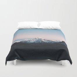 Blue & Pink Himalaya Mountains Duvet Cover