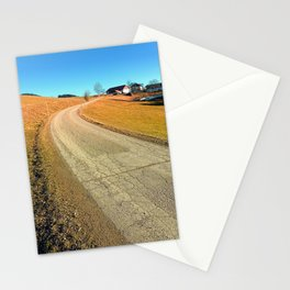 Springtime, road and countryside | landscape photography Stationery Cards