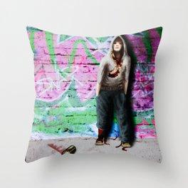 ... street art Throw Pillow