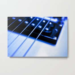 Guitar String Metal Print