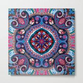 Boho Kaleidoscope Floral Pattern Var. 5 Metal Print