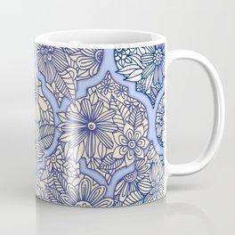 Moroccan Floral Lattice Arrangement - Purple Coffee Mug