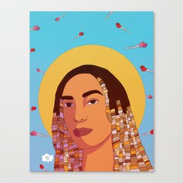 Seated Canvas Print