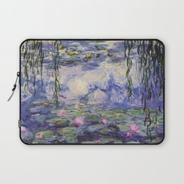 1917 Water Lilies oil on canvas. Claude Monet. Vintage fine art. Laptop Sleeve