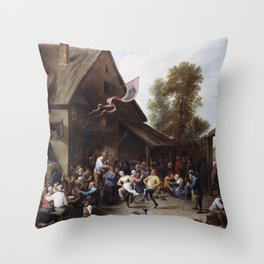 David Teniers The Younger - Kermis On St Georges Day Throw Pillow
