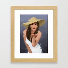 Blowkiss Framed Art Print