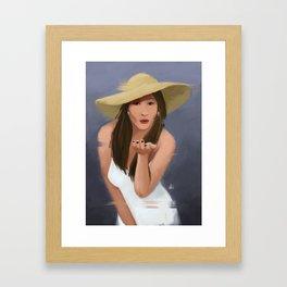 Blowkiss Framed Art Print