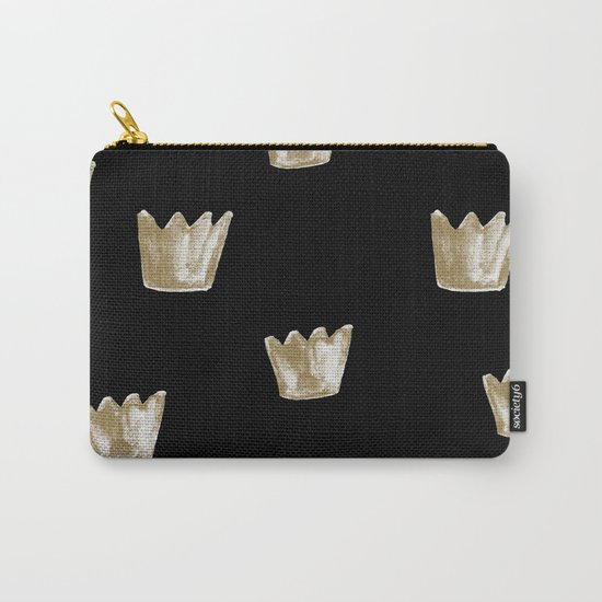 Crown Pattern Carry-All Pouch