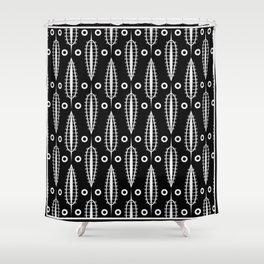 Art Deco No. 20 Fishnet white sheets . Shower Curtain