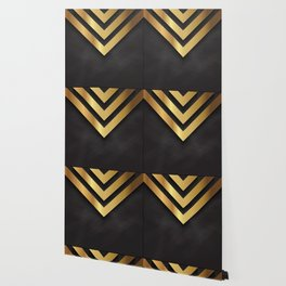 Back and gold geometric design Wallpaper