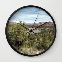 The View from Coyote Ridge Trail in Red Rock State Park Wall Clock