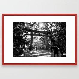 Grand Torii (gate) of Meiji Shrine Framed Art Print