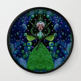 Lady Rabbit  Fantasy happy for her new dress Wall Clock