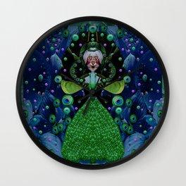 Lady Rabbit  Fantasy happy for her new dress Wall Clock
