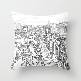 Sarajevo Panorama 005 Throw Pillow