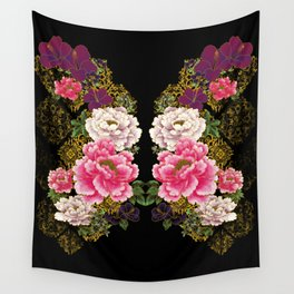 80's Peonies Wall Tapestry