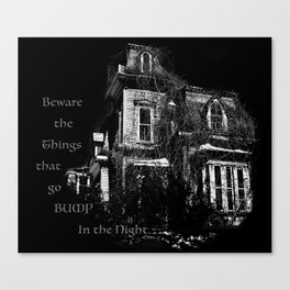 The local creepy house Canvas Print