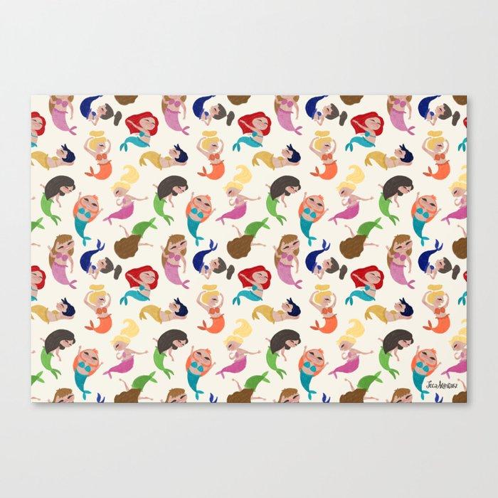 Baby Mermaids Canvas Print