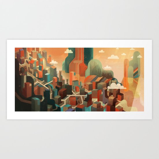 City Bay Art Print