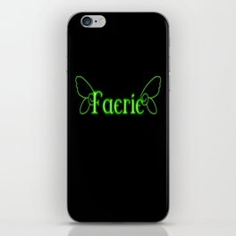 Faerie With Wings iPhone Skin