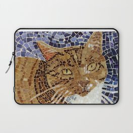 Tiger Cat - Stained Glass Mosaic Laptop Sleeve