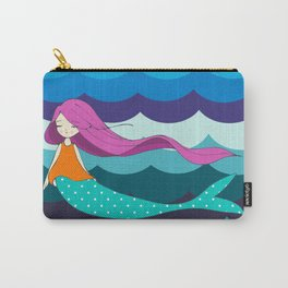 Mermaid in Blue Carry-All Pouch