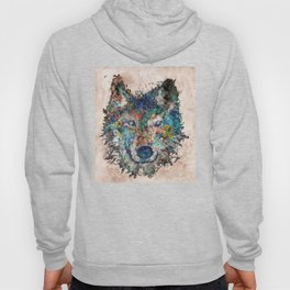 floral animals wolf Hoody