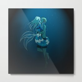 Love in deep water Metal Print