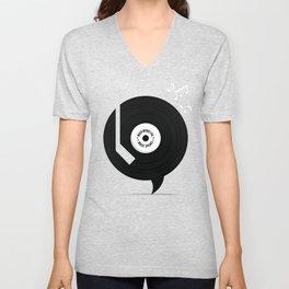 Music Speaks Unisex V-Neck