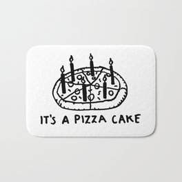It's a Pizza Cake - Pepperoni Pizza lovers birthday dream desert with candles Bath Mat