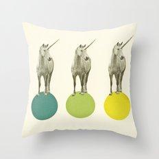 Unicorn Parade Throw Pillow