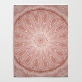Rose Pink Mandala Poster