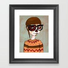 Day of the Dead Hipster Framed Art Print