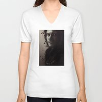 dracula V-neck T-shirts featuring Dracula by LindaMarieAnson