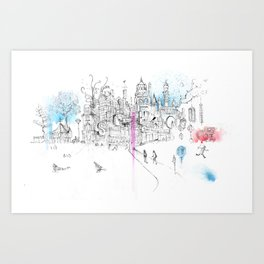 Soho London Art Print