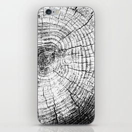 Wood Rings Black White iPhone Skin