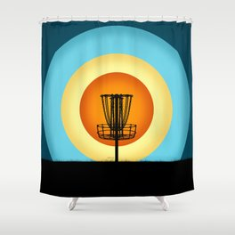Colorful Disc Golf Basket Shower Curtain