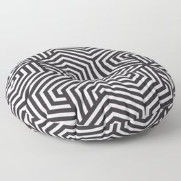 Raisin black - black - Minimal Vector Seamless Pattern Floor Pillow