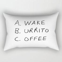 Breakfast Coffee ABC Rectangular Pillow