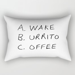Breakfast Coffee ABC Rectangular Pillow