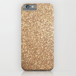 Copper Rose Gold Metallic Glitter iPhone Case
