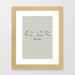 Oh .... i do like to be beside the seaside ~ polka dot ~ poster ~ typography ~ illistration Framed Art Print