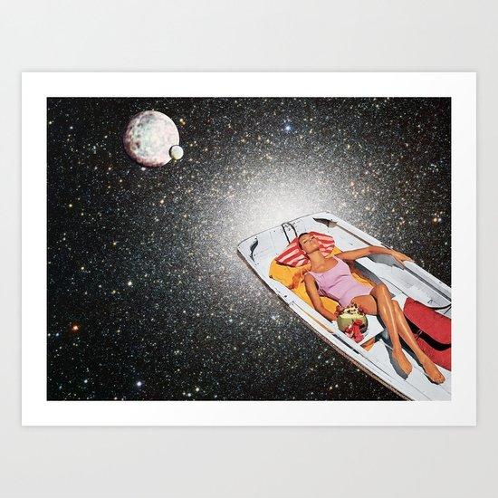 Cosmic Float Art Print