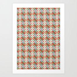Tile Pattern Art Print