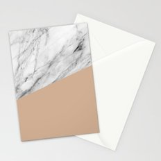 Marble and hazelnut color Stationery Cards