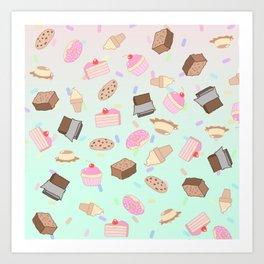 Pastel Desserts Art Print