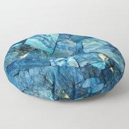 Labradorite Blue Floor Pillow
